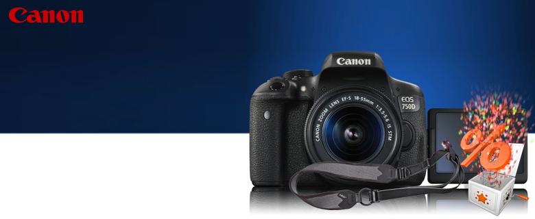 Canon EOS 750D fényképezőgép 15.000 Ft kedvezménnyel!