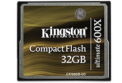Kingston Compact Flash kártya 32GB Ultimate 600x